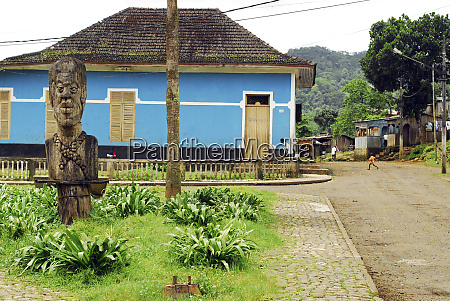 sao tome angolares big wooden carved