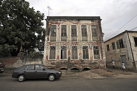 sao tome view of colonial houses