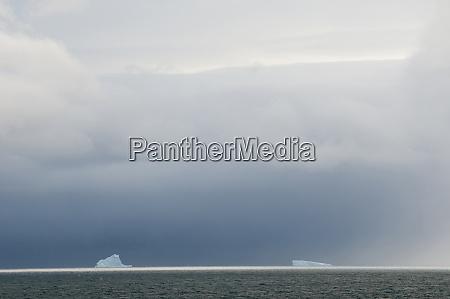 antarctica bransfield strait iceberg under stormy