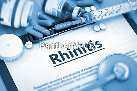 rhinitis diagnosis medical concept 3d render