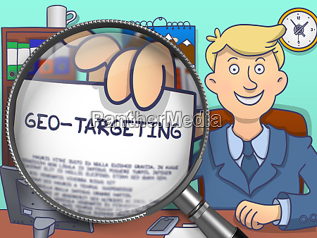 geo targeting through lens doodle concept