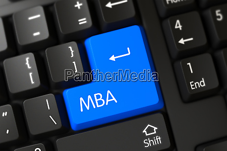 keyboard with blue keypad mba
