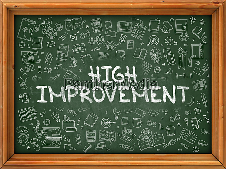 high improvement hand drawn on
