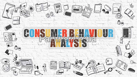 multicolor consumer behaviour analysis on white