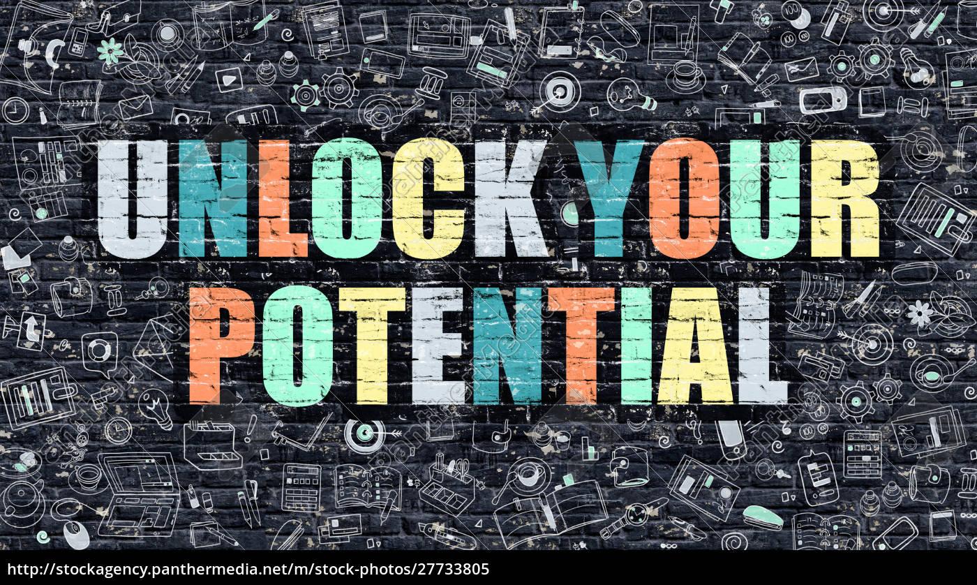 multicolor, unlock, your, potential, on, dark - 27733805