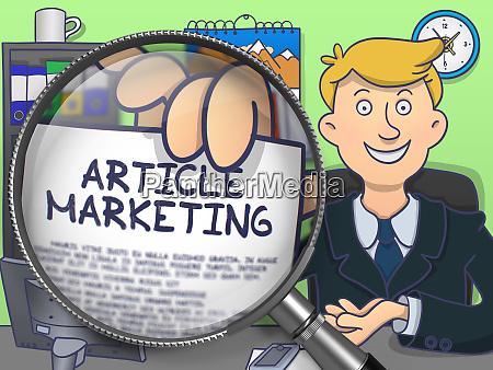 article marketing through lens doodle design