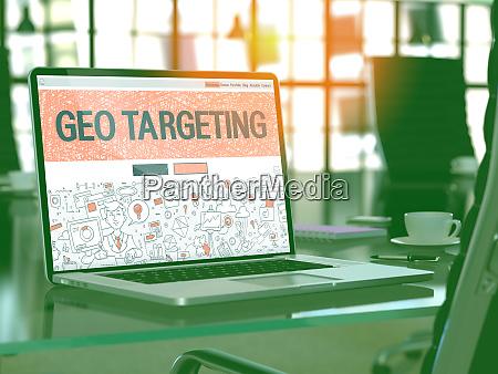 geo targeting concept on laptop screen