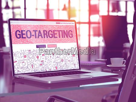 geo targeting on laptop in modern