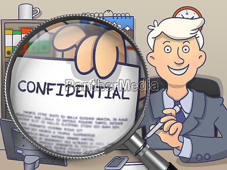 confidential through lens doodle style
