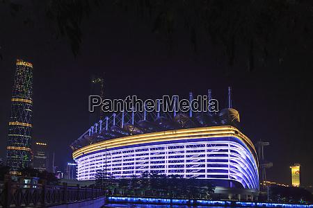 riverfront view near canton tower guangzhou