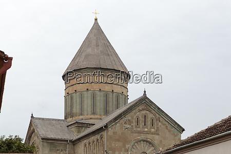 georgia mtskheta a tower on the