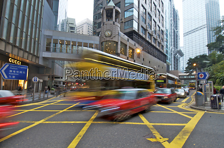 hong kong rush hour traffic in