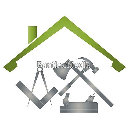 tools carpenter carpenter tools roofer logo