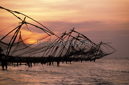 asia india kerala chinese fishing nets