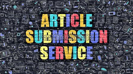 multicolor article submission service on dark