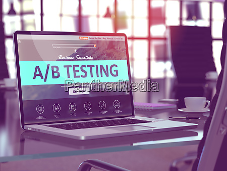 ab testing concept on laptop screen
