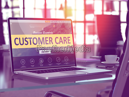 customer care concept on laptop screen
