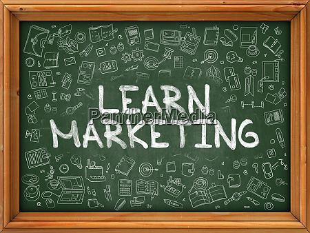learn marketing hand drawn on