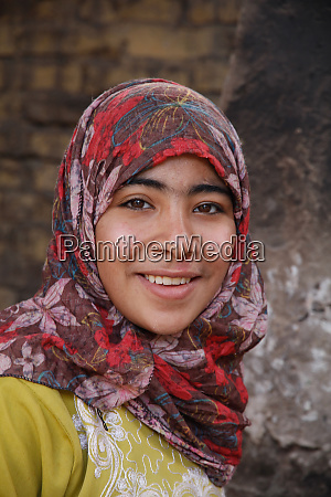 young egyptian girl with hijab an