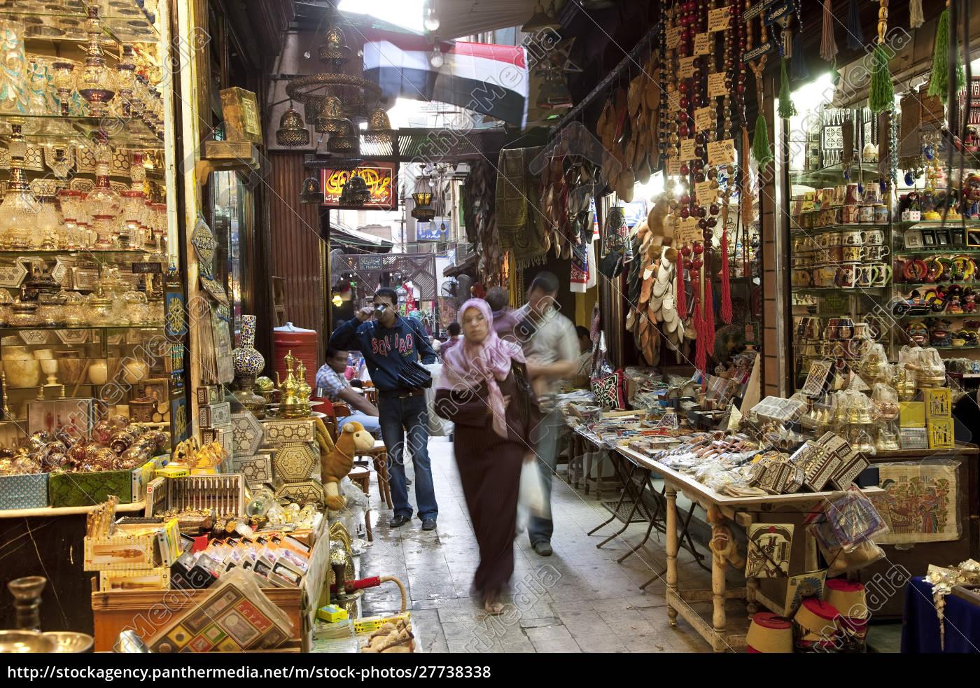 bazaar, with, egyptian, flag, , khan, al-khalili, - 27738338
