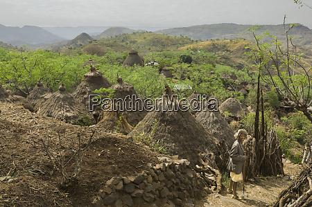 africa ethiopia omo region an old