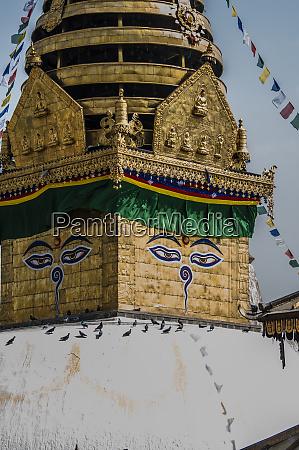 stupa at swayambhunath monkey temple kathmandu