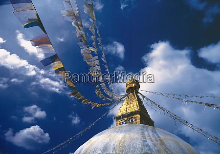 asia nepal kathmandu valley flags send