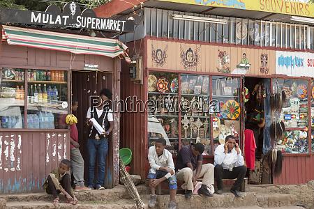 souvenir shop in lalibela ethiopia africa