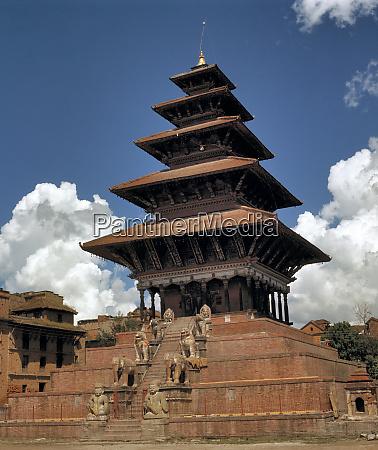 asia nepal bhaktapur the nyatapola temple