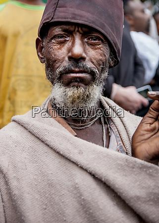 munk participating in meskel lalibela ethiopia