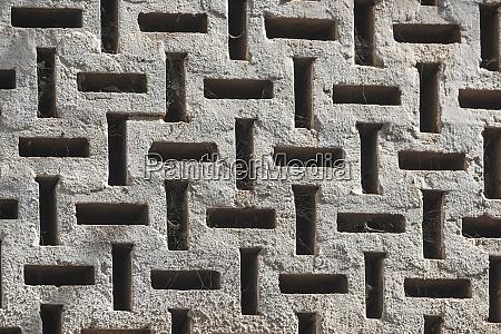 africa gambia banjul concrete lattice wall