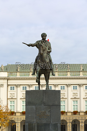 statue of prince poniatowski in front
