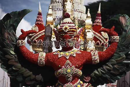thailand bangkok silom parade float of