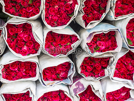 thailand bangkok street flower market flowers