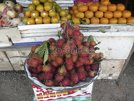 cambodia siem reap fruit for sale