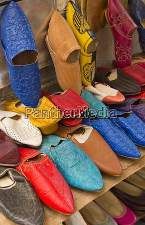 morocco fez colorful arab shoes for