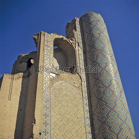 uzbekistan bukhara the minaret is where