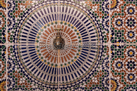 africa morocco close up of tile