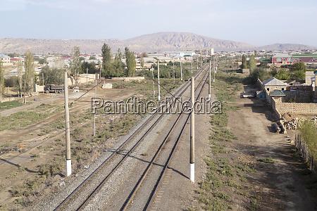 azerbaijan qobustan a train track running