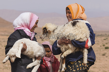 morocco young children serve as shepherds