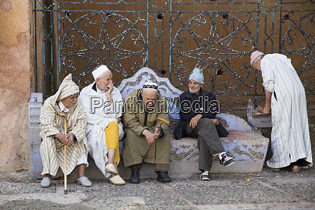 morocco rif mountains chefchaouen medina local