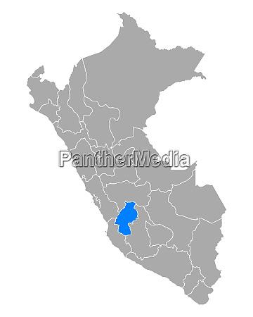 map of huancavelica in peru