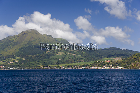 martinique french antilles west indies pitons