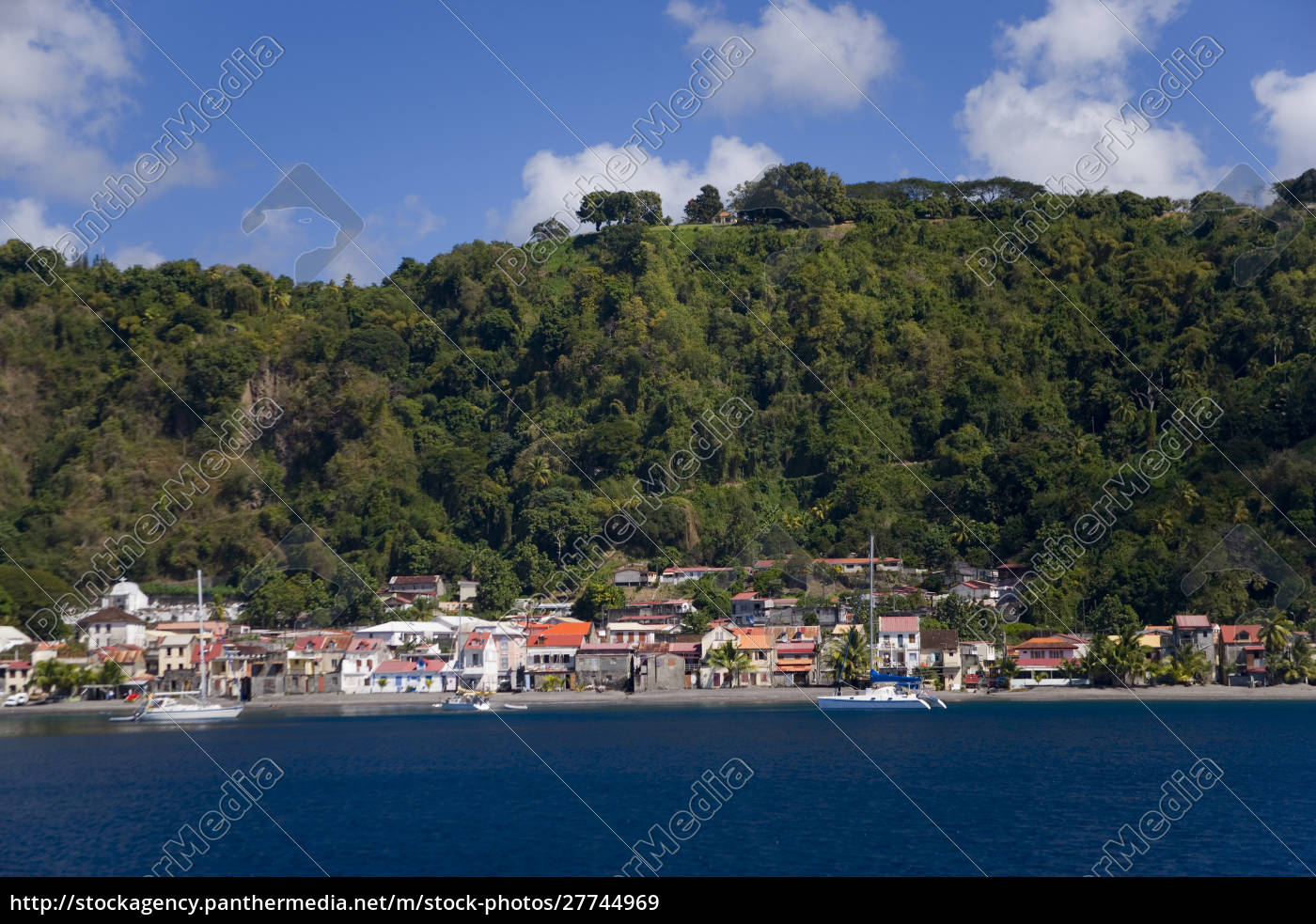 martinique., french, antilles., west, indies., town - 27744969