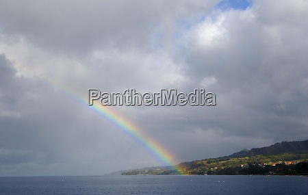 martinique french antilles west indies rainbow