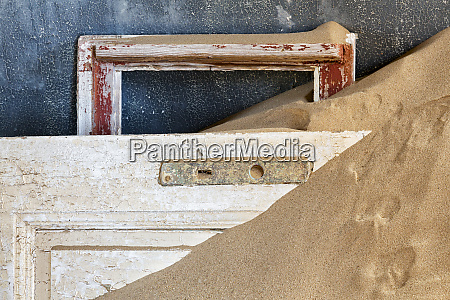 africa namibia kolmanskop detail of door