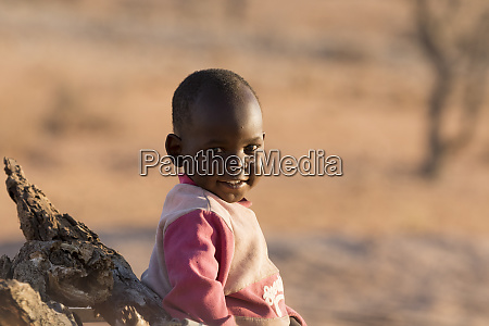 africa namibia damaraland portrait of young