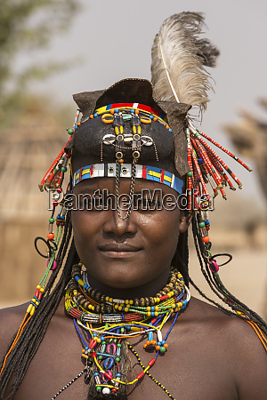 africa namibia woman with beaded decorations