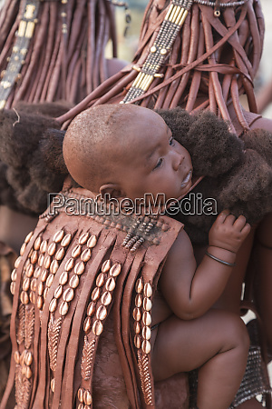 africa namibia a young himba child