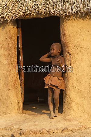 africa namibia a young himba girl